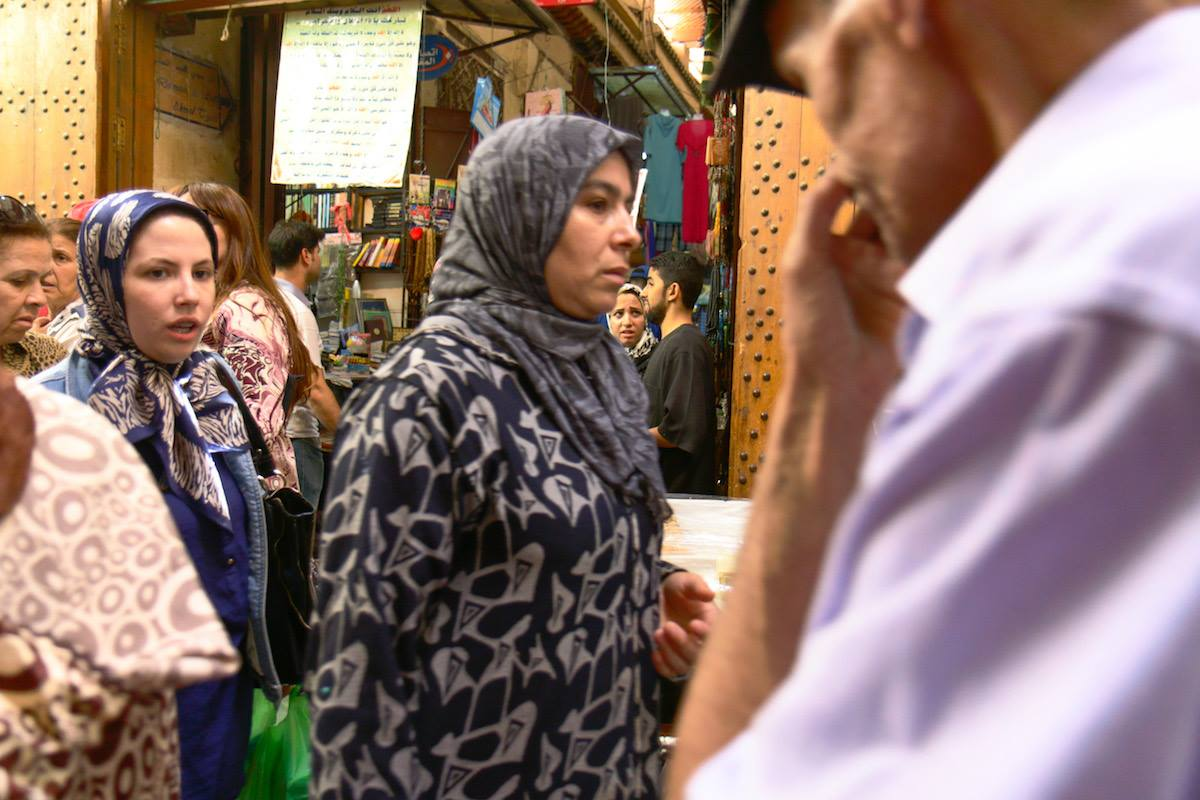 Moroccan women in Fez, Morocco