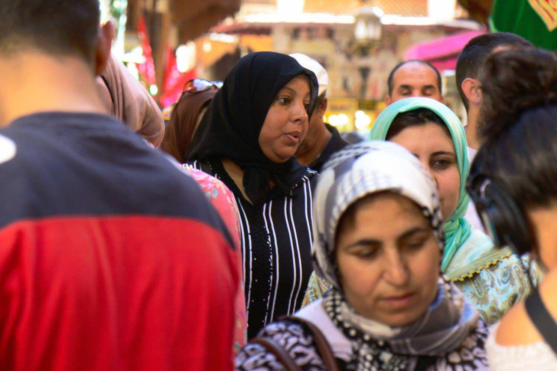 Moroccan women in Fez medina