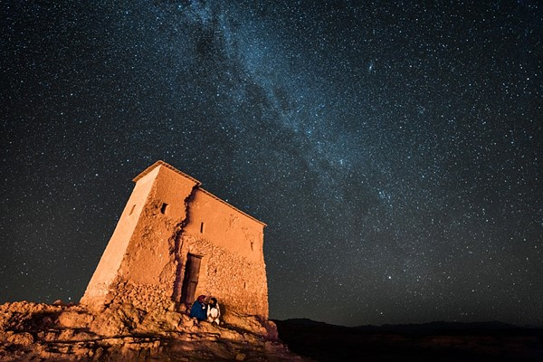 Sky at night in Moroccan desert