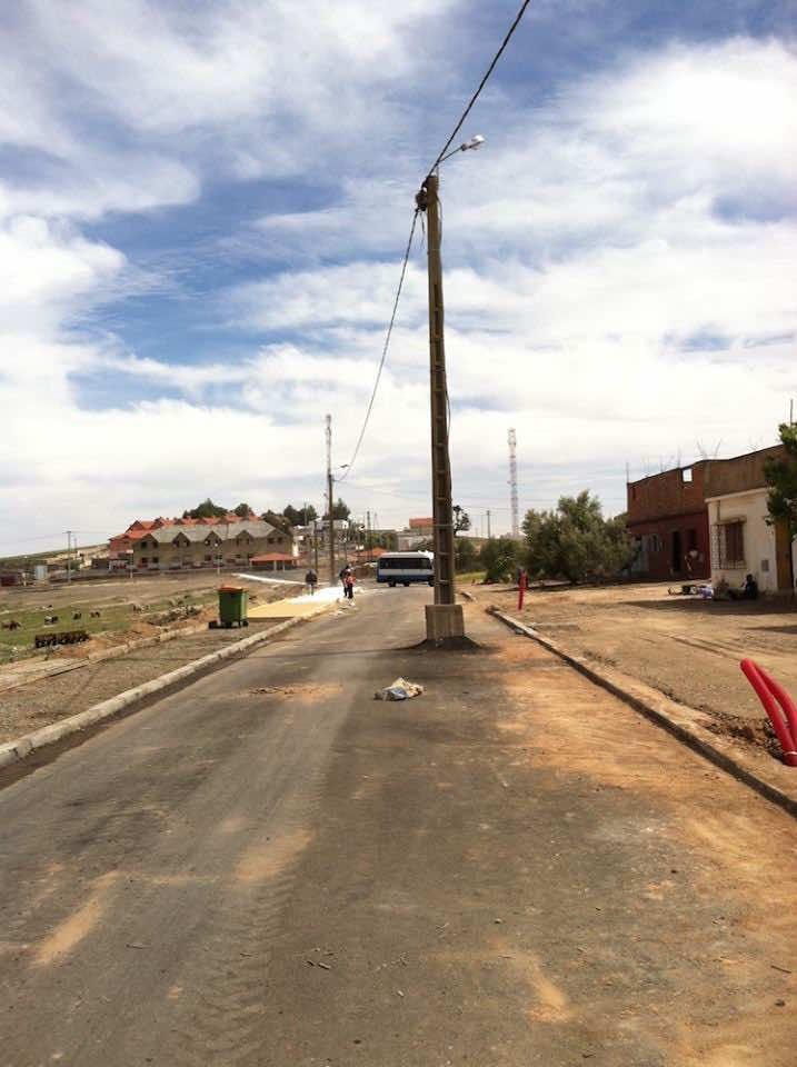 Streetlamp in Tarmilat, Morocco
