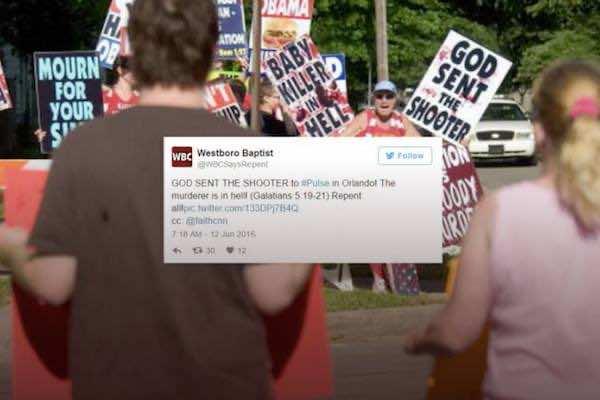 Westboro Baptist Church Celebrates Orlando Mass Shooting