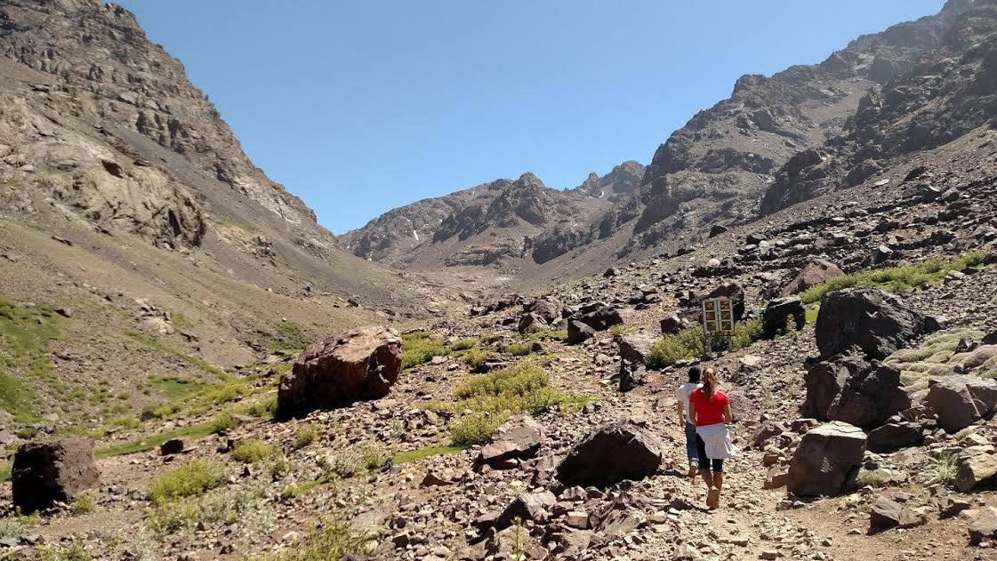 Approaching the Refuge du Toubkal