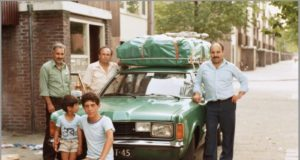 Dutch Family of Moroccan descent before leaving to Morocco