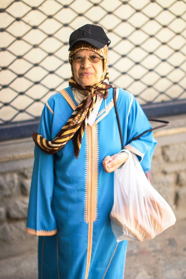 Inside the Walls of Old Medinas- old woman in Rabat