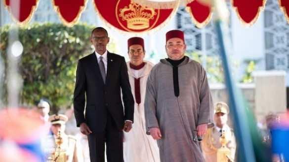 King Mohammed VI of Morocco with Rwandan President Paul Kagame