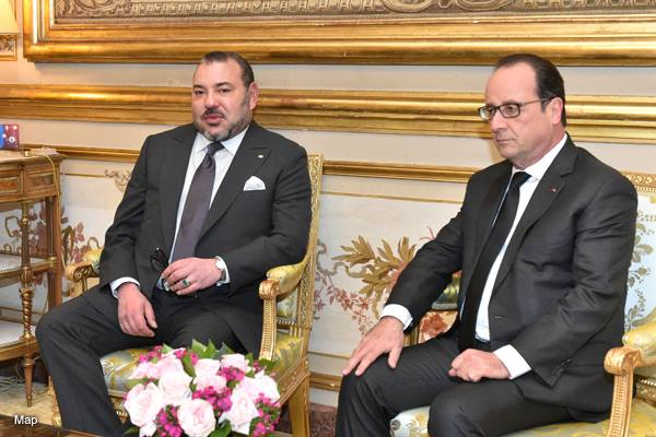 King Mohammed VI with Francois Holland