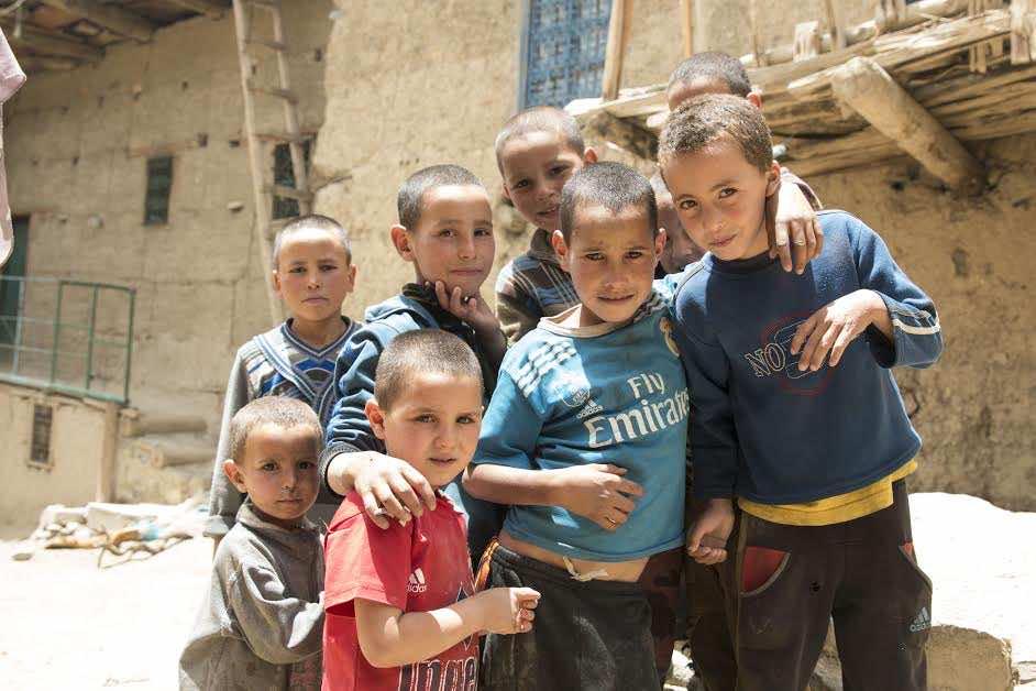 Moroccan young boys in Anfgou, the High Atlas Mountains