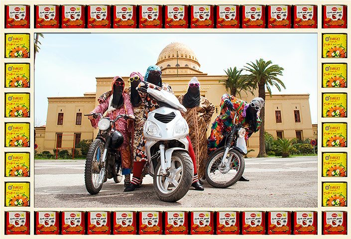 Marrakesh motorcycle maidens