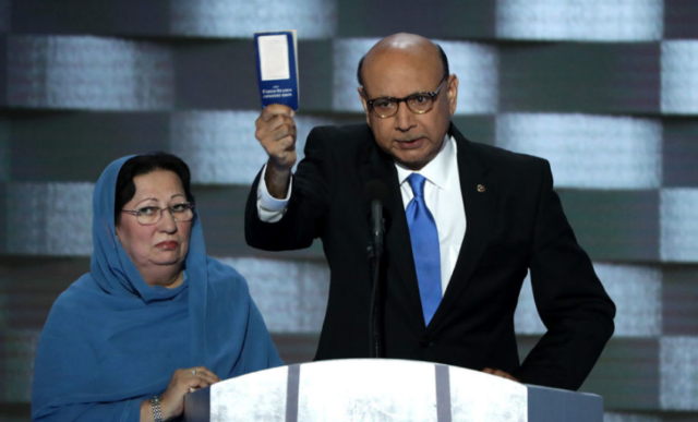 The Father Of Deceased Soldier Challenges Trump At DNC