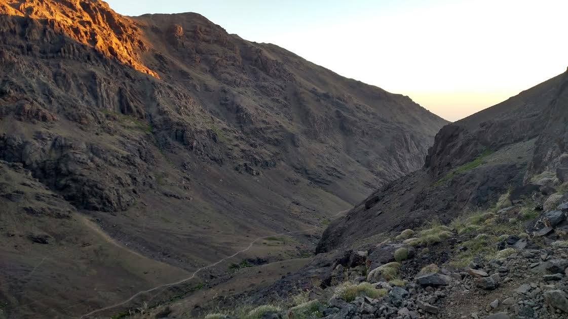 Toubkal way down