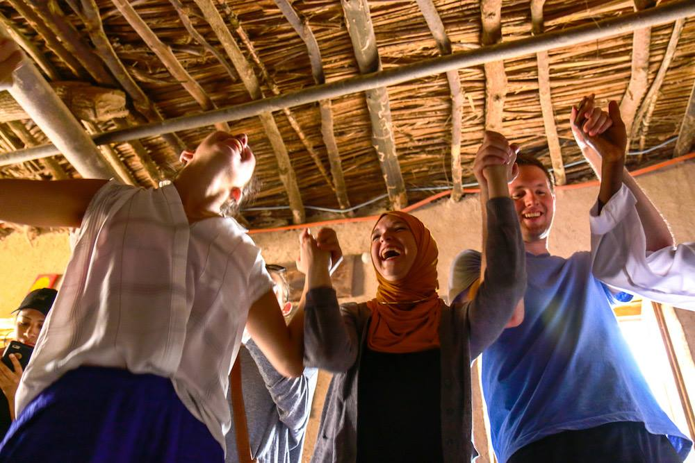 Tourists Dancing in Morocco