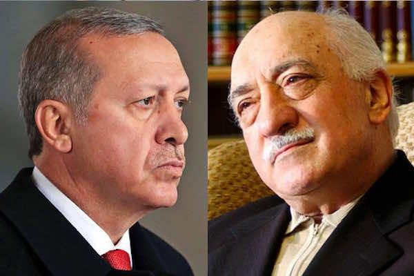 Turkey's president Recep Tayyip Erdogan and Fethullah Gulen