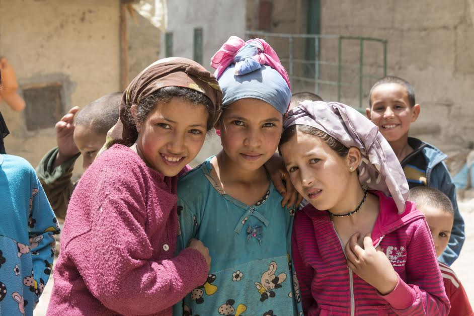 Young Moroccan girls in Anfgou, the high Atlas Mountains