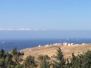 A view from Hamid's house: The Strait of Gibraltar and the hazy shores of southern Spain
