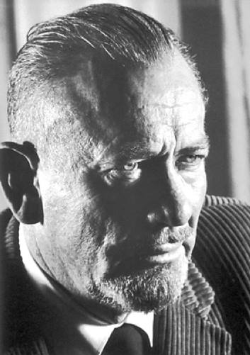 American writer Nobel Prize winner John Steinbeck (1902-1986)