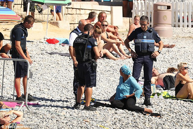 French Police Force Muslim Woman to Remove Her Swimwear on the Beach...