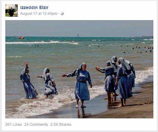 Imam Shares Photos of Nuns Wearing Garment Similar to the Burkini