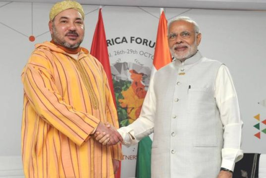 King Mohammed VI with Indian President