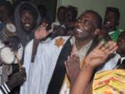 Mauritania anti-slavery activist Biram Ould Dah Ould Abeid (C)