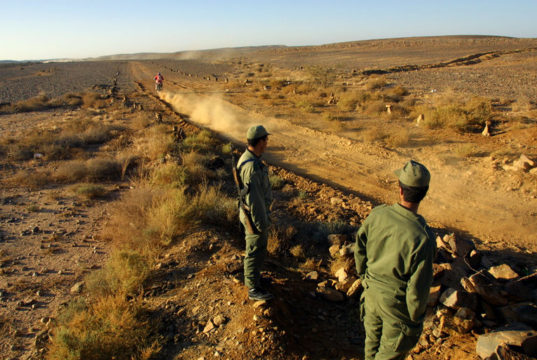 Members of the Moroccan Royal Forces at the Moroccan borders with Mauritania