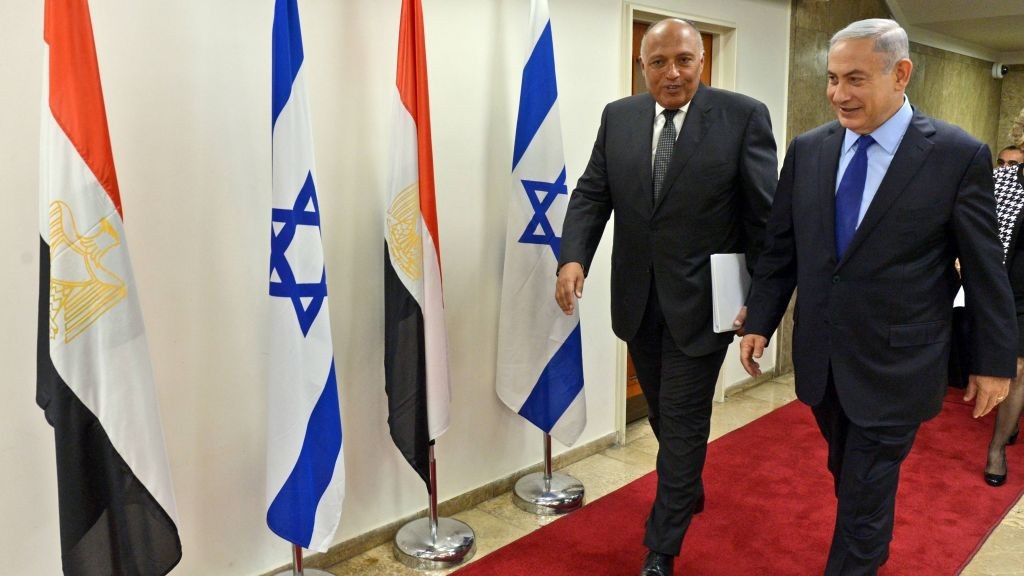 Egypt's Foreign Minister Defends Israel in Its Continual Bombardments on Palestine