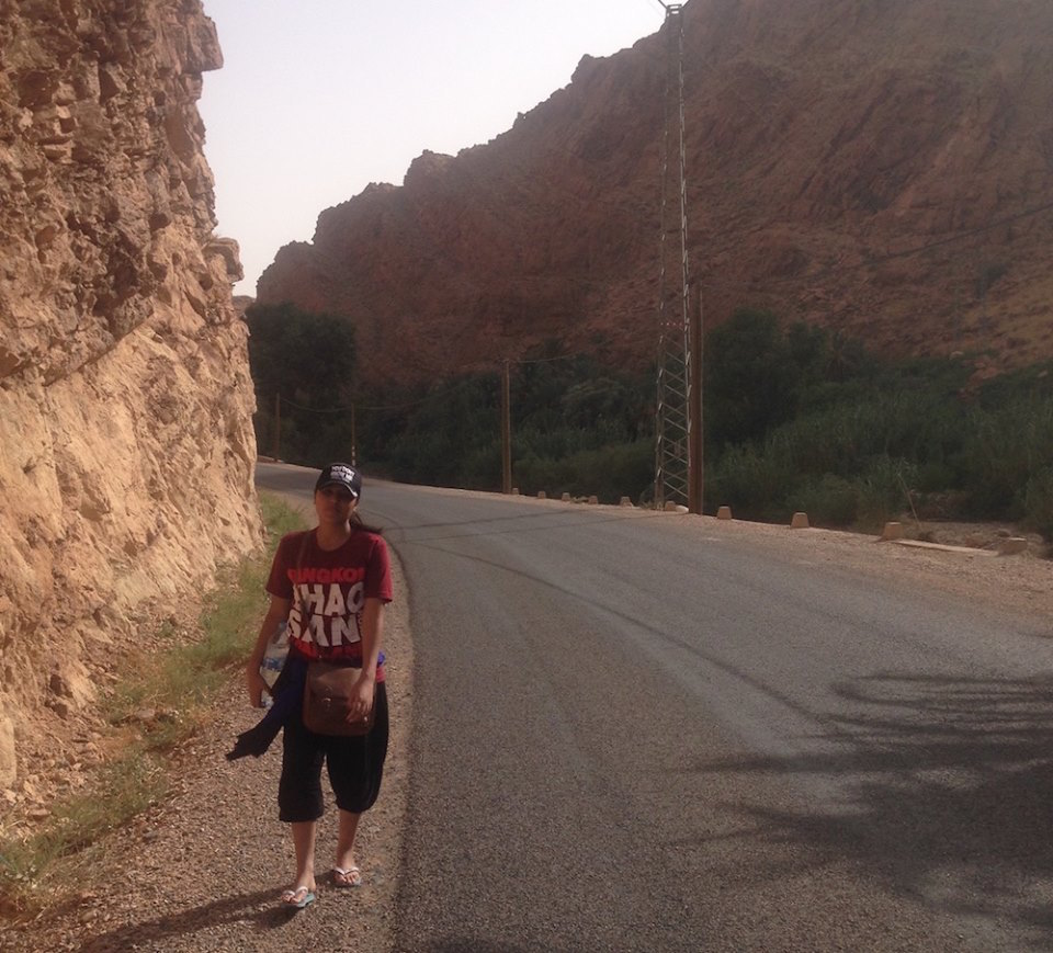 Zineb Boujrada in the south of Morocco