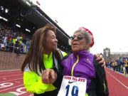 Video: 100 Meters Dash in Mixed Masters Age 80 & Over
