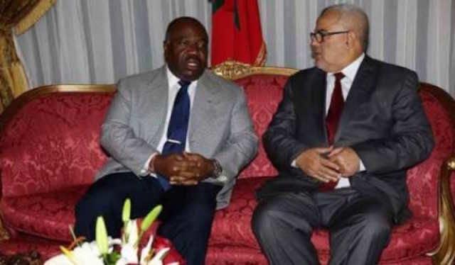 Abdelilah Benkirane with gabonese President Ali Bongo Ondimba
