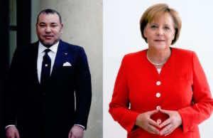 German Chancellor, Angela Merkel and King Mohammed VI