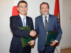 Minister of Culture Mohamed Amine Sbihi and Japanese Ambassador to Morocco, Tsuneo Kurokawa