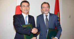 Minister of Culture Mohamed Amine Sbihi and Japanese Ambassador to Morocco, Tsuneo Kurokawa