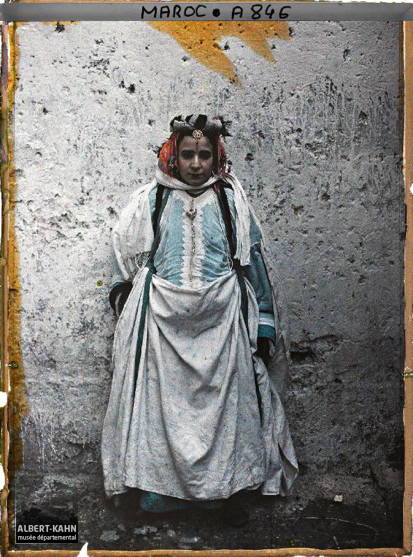 Moroccan woman in 1913 musée Albert-Kahn,