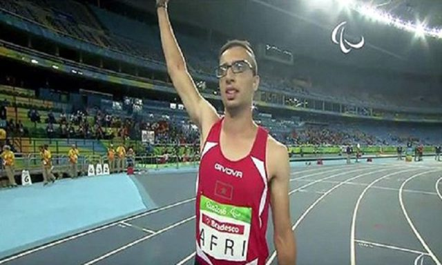 Morocco's Mahdi Afri finished third in the men's 400m T12 final