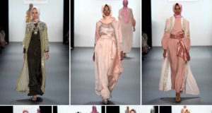 Muslim Designer Present First Hijab Collection at New York Fashion Week(photo credit the upcoming.co.uk)