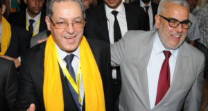 Abdelilah Benkirane along with the head of the popular movement Mohand Laenser