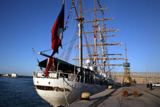 Colombian Gloria Sloop Docks at Casablanca Harbor