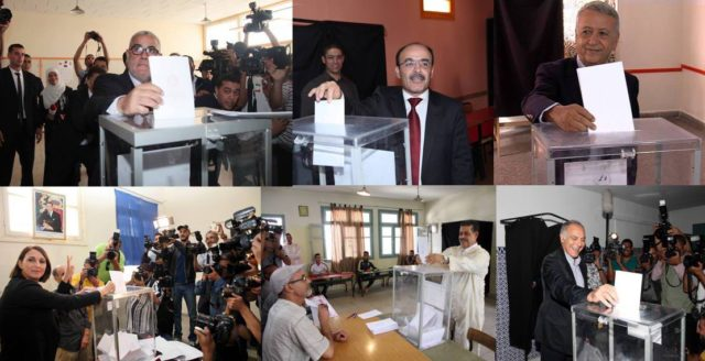 Moroccan Party Leaders Cast Their Votes