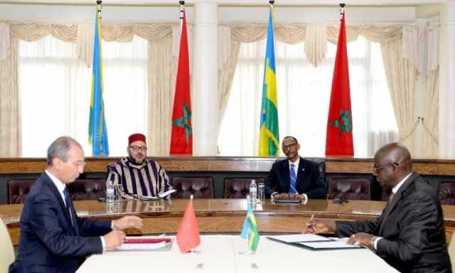 King Mohammed VI, Rwandan President Chair Signing Ceremony of 19 Agreements