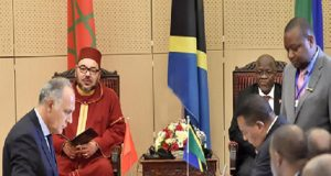 King-Mohammed-VI-Tanzanian-Pres.-Chair-Signing-of-22-Agreements