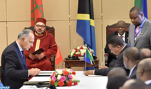 King Mohammed VI, Tanzanian Pres. Chair Signing of 22 Agreements