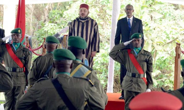 King Mohammed VI with Paul Kagame