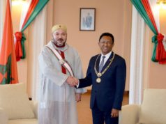 King Mohammed VI with president of Madagascar President Hery Rajaonarimamapianina