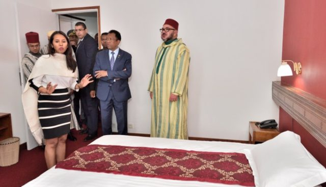 King Mohammed VI Visits Hotel Where Late King Mohammed V Stayed Whikw in Exile