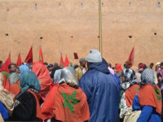 Moroccans celebrating the Green March