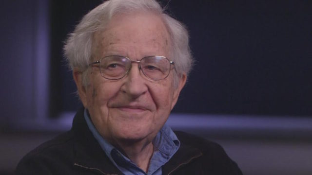 Noam Chomsky, the renowned US academic, award-winning author and public intellectual