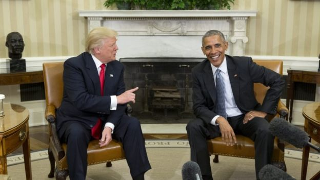 Obama Receives Trump at White House