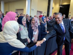 President Obama visited the Islamic Center of Baltimore,