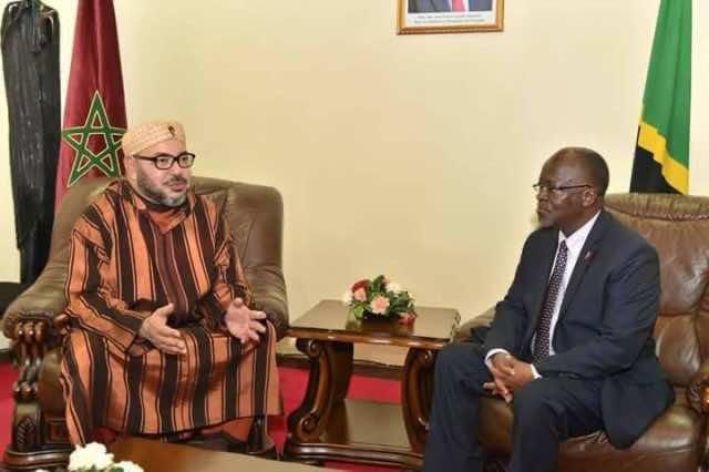 President of Tanzania, Jon Pombe Joseph Magufuli, with King Mohammed VI