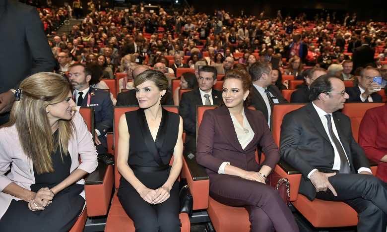 Princess Lalla Salma Attends World Cancer Congress in Paris