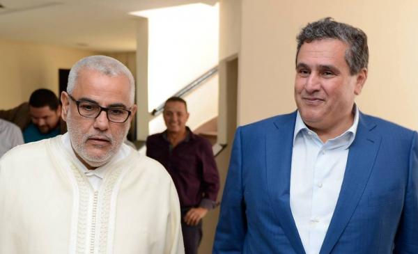 Aziz Akhannouch with Abdelilah Benkirane